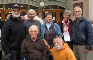 (Left to right), Front row: Jerry, Denny; Back row: Bix, Susan, Betsy, Mary Jane & Ed