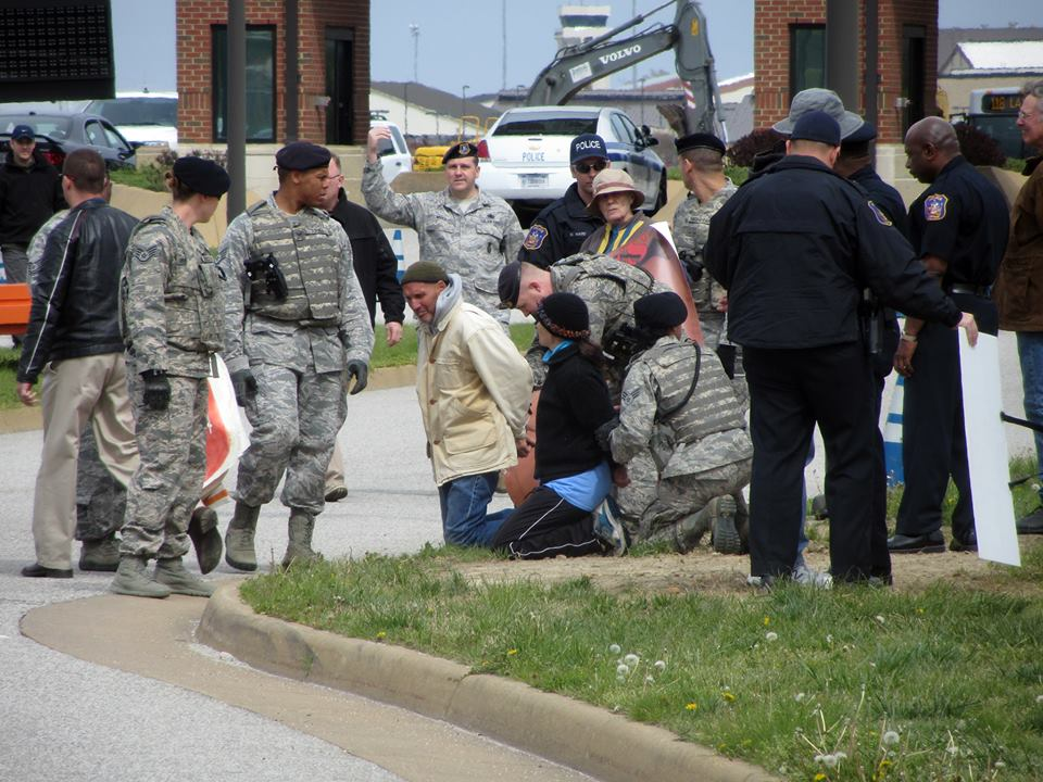 Arrests at Langley Air Force Base mark end of Holy Week peace walk