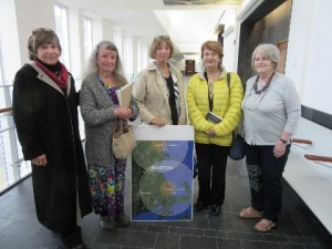 Four defendants after trial with Dr. Helen Caldicott, expert witness