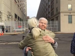 Sr. Megan Rice walks out of MDC Brooklyn
