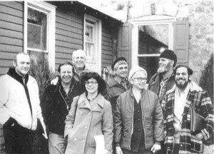The Plowshares Eight (Dan Berrigan in black beret)