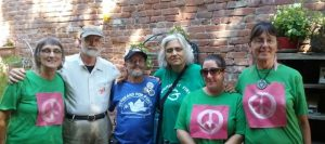 Occupy Beale Photo of Shirley Osgood, Fred Bialy, Michael Kerr, Pamela Osgood, Flora Rogers, and Toby Blomé