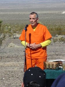 Fr. Steve Kelly SJ at Nevada National Security Site (nuclear test site), photo by Felice Cohen-Joppa
