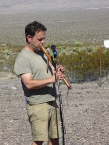 Rabbi Seth Castleman at Nevada National Security Site (nuclear test site), photo by Felice Cohen-Joppa