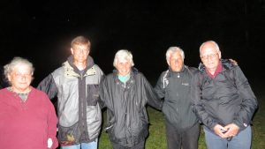 Activists prepare to enter Büchel Air Base in Büchel, Germany to challenge U.S. nuclear weapons deployment. From left, Bonnie Urfer, Steve Baggarly, Susan Crane, John LaForge and Gerd Buentzly. (photo by Ralph Hutchison)